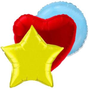 Большие звёзды, круги и сердца
